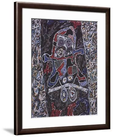 Automobile a la route noire-Jean Dubuffet-Framed Art Print