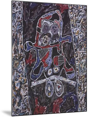 Automobile a la route noire-Jean Dubuffet-Mounted Art Print