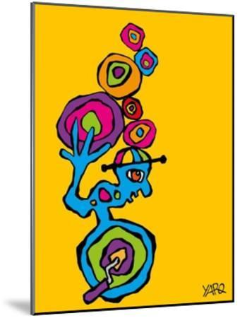 Unicycle-Yaro-Mounted Art Print