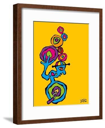Unicycle-Yaro-Framed Art Print