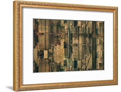 Urban Patchwork II-Jean-Fran?ois Dupuis-Framed Art Print