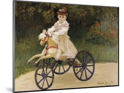 Jean Monet on his Hobby Horse, 1872-Claude Monet-Mounted Premium Giclee Print
