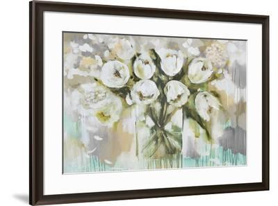 Pure Blanc Tulipa-Amanda J^ Brooks-Framed Art Print