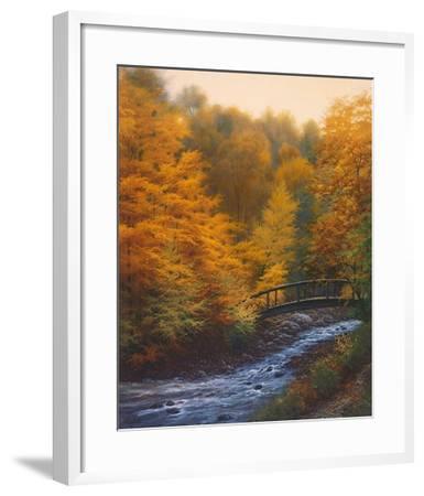 Autumn Stream-Charles White-Framed Art Print