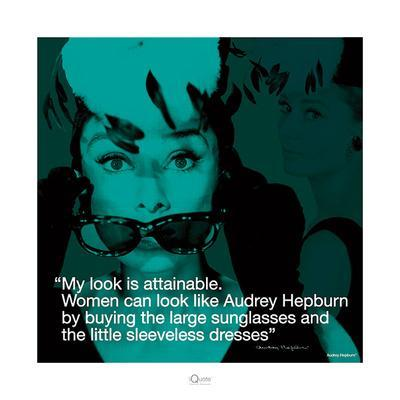 Audrey Hepburn – Attainable-Unknown-Framed Art Print