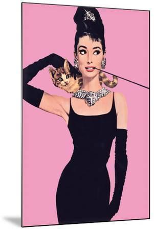 Audrey Hepburn – Pink-Unknown-Mounted Art Print