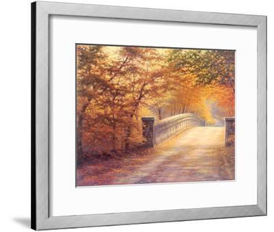 Autumn Bridge-Charles White-Framed Art Print