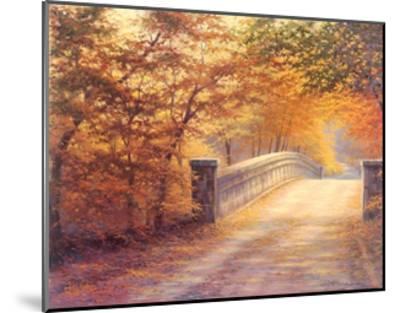 Autumn Bridge-Charles White-Mounted Art Print