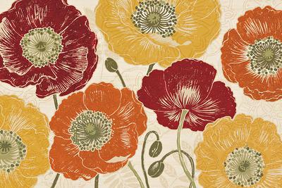 A Poppy's Touch I Spice-Daphné Brissonnet-Framed Art Print