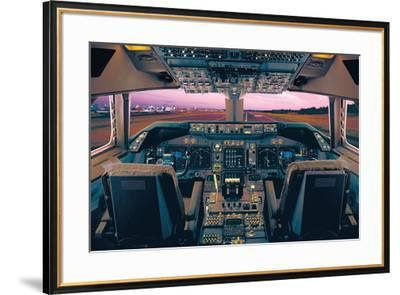 Boeing 747-400 Flight Deck-Unknown-Framed Art Print