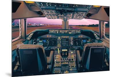 Boeing 747-400 Flight Deck-Unknown-Mounted Art Print