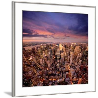 Big Apple after Sunset 1-Ilja Masik-Framed Art Print