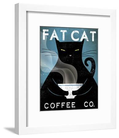 Cat Coffee Co.-Ryan Fowler-Framed Art Print