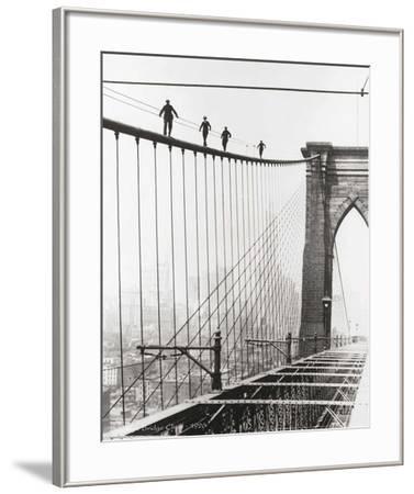 Brooklyn Bridge Climb, 1926-Unknown-Framed Art Print