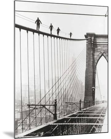 Brooklyn Bridge Climb, 1926-Unknown-Mounted Art Print