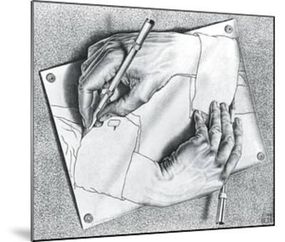 Drawing Hands-M^ C^ Escher-Mounted Art Print