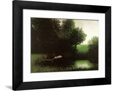 Diving Pig-Michael Sowa-Framed Art Print