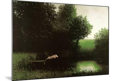 Diving Pig-Michael Sowa-Mounted Art Print
