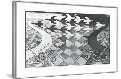 Day and Night-M^ C^ Escher-Framed Art Print