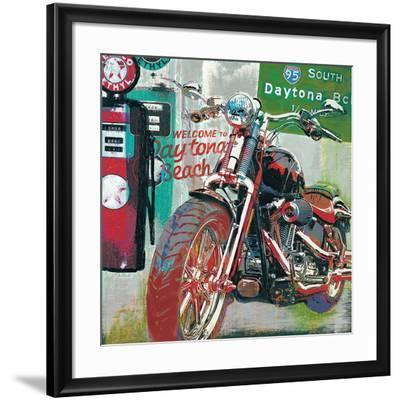 Daytona Beach-Ray Foster-Framed Art Print