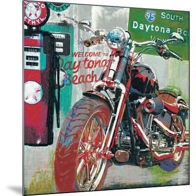 Daytona Beach-Ray Foster-Mounted Art Print