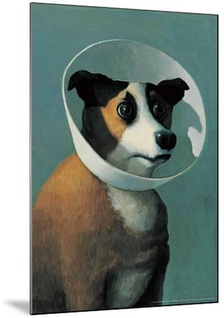 Dog with Cone-Michael Sowa-Mounted Art Print
