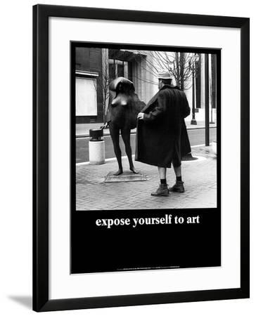 Expose Yourself to Art-M^ Ryerson-Framed Art Print