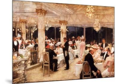 Evening at the Plaza-Henry Gervex-Mounted Art Print