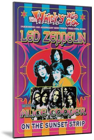 Led Zeppelin, Alice Cooper-Dennis Loren-Mounted Art Print