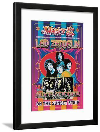 Led Zeppelin, Alice Cooper-Dennis Loren-Framed Art Print