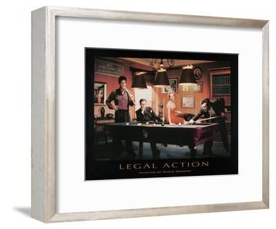 Legal Action-Chris Consani-Framed Art Print