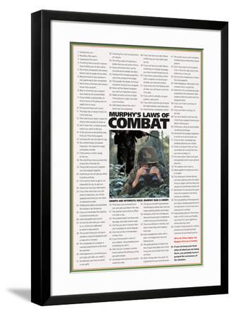 Murphy's Laws of Combat-Unknown-Framed Art Print