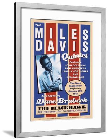 Miles Davis, 1957-Unknown-Framed Art Print