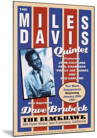 Miles Davis, 1957-Unknown-Mounted Art Print