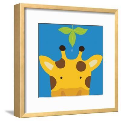 Peek-a-Boo Giraffe-Yuko Lau-Framed Art Print