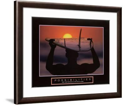 Possibilities – Surfer-Unknown-Framed Art Print
