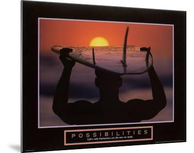 Possibilities – Surfer-Unknown-Mounted Art Print
