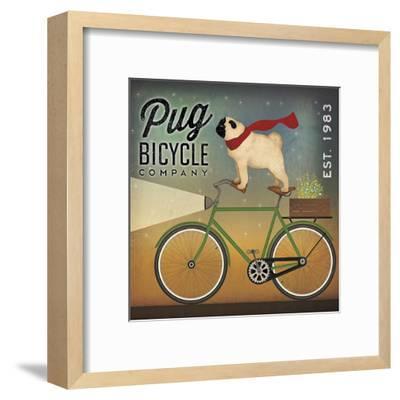 Pug on a Bike-Ryan Fowler-Framed Art Print