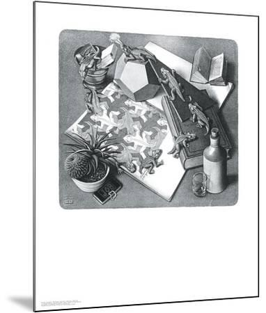 Reptiles-M^ C^ Escher-Mounted Art Print