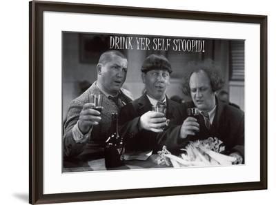 Stooges – Drink Yer Self Stoopid!-Unknown-Framed Art Print
