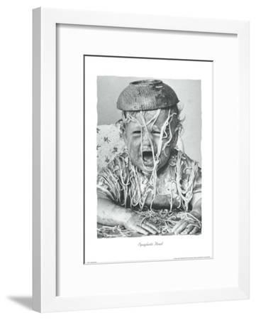Spaghetti Head-Unknown-Framed Art Print