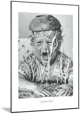 Spaghetti Head-Unknown-Mounted Art Print