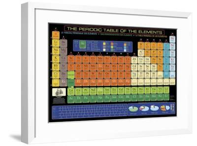 The Periodic Table of Elements-Unknown-Framed Art Print