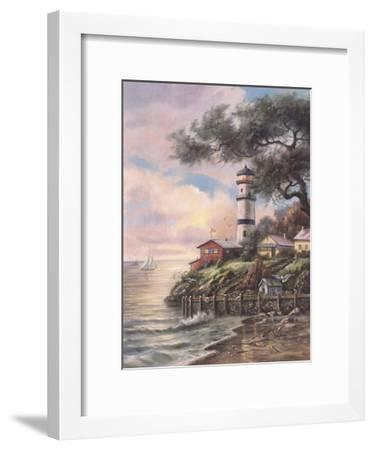 Beacon Light Bay-Carl Valente-Framed Art Print