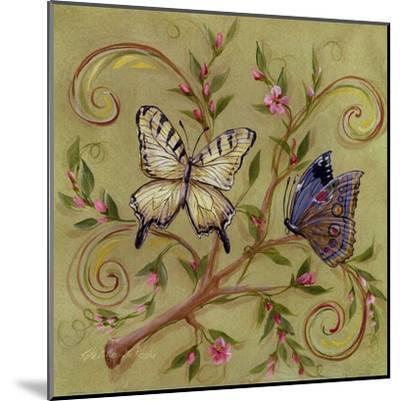 Butterfly Green-Kate McRostie-Mounted Art Print