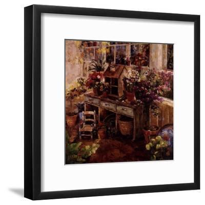 Michelle's Potting Bench--Framed Art Print