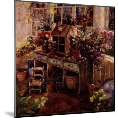 Michelle's Potting Bench--Mounted Art Print