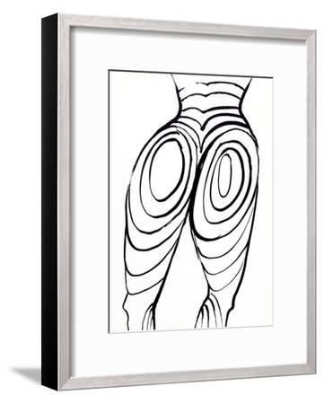 Back Cover (Nude Study) from Derriere Le Miroir-Alexander Calder-Framed Collectable Print