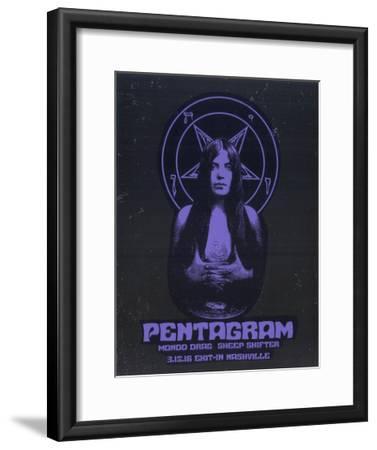 Pentagram-Print Mafia-Framed Serigraph