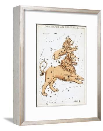 Urania's Mirror, Leo, 1825-Sidney Hall-Framed Art Print